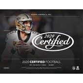 2020 Panini Certified Football Hobby 12-Box Case (Presell)