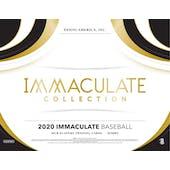 2020 Panini Immaculate Baseball Hobby 8-Box Case (Presell)