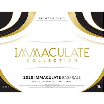 2020 Panini Immaculate Baseball Hobby Box (Presell)