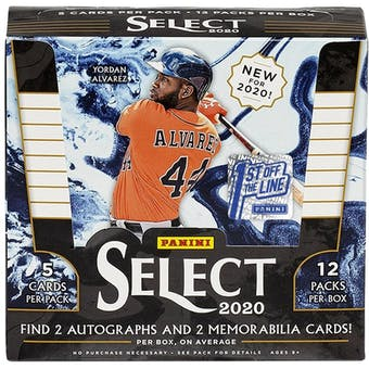 2020 Panini Select 1st Off The Line Baseball Hobby Box