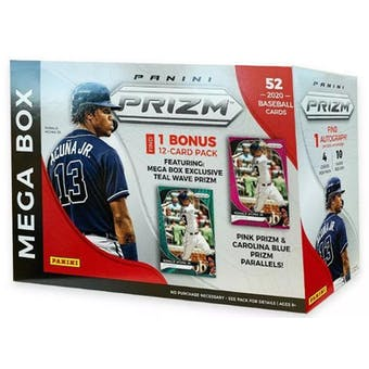 2020 Panini Prizm Baseball Mega Box (52ct)