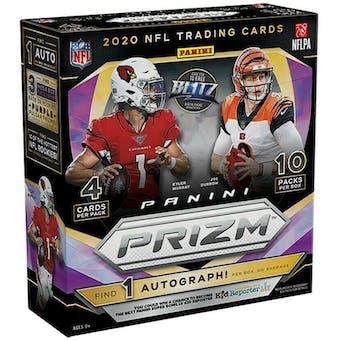 2020 Panini Prizm Football Mega Box (40 Cards) (Fanatics) (Purple Pulsar)