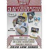2020 Sage Hit Low Series Football Blaster 20-Box Case