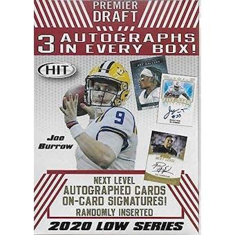 2020 Sage Hit Low Series Football Blaster Box