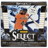 2020 Panini Select Baseball Hobby 12-Box Case