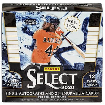 2020 Panini Select Baseball 3-Box- DACW Live 6 Spot Random Division Break #1