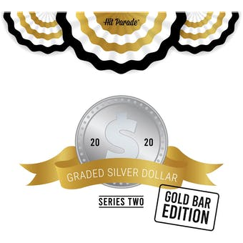 2020 Hit Parade Graded Silver Dollar GOLD Bar Edition - Series 2 - Hobby Box - NGC and PCGS Coins