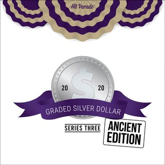 2020 Hit Parade Graded Silver Dollar Ancient Edition - Series 3 - Hobby Box - Graded NGC and PCGS Coins