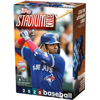 2020 Topps Stadium Club Baseball Blaster Box