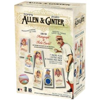 2020 Topps Allen & Ginter Baseball 8-Pack Blaster Box