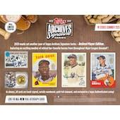 2020 Topps Archives Sig Series Retired Edition Baseball 20-Box Case- DACW Live 6 Spot Random Division Break #3