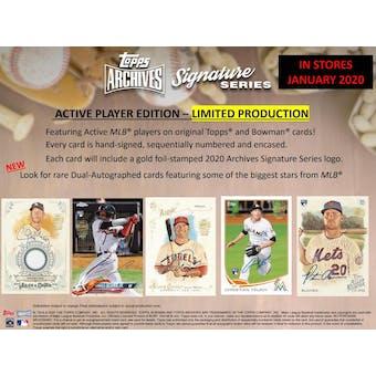 2020 Topps Archives Sig. Series Baseball 20-Box Case- DACW Live 20 Spot Random Card Break #3