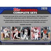 2020 Topps Factory Set Baseball (Box) Case (8 Sets) (Presell)