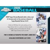 2020 Topps Chrome Baseball Hobby Jumbo Box (Presell)