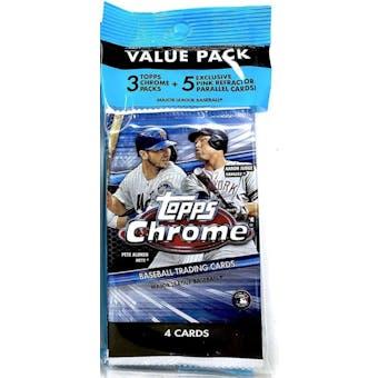 2020 Topps Chrome Baseball Jumbo Value 17-Card Pack (Lot of 6)