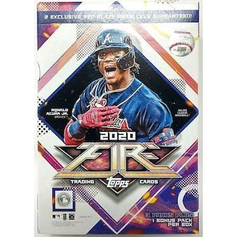2020 Topps Fire Baseball Hanger Box
