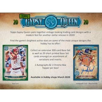 2020 Topps Gypsy Queen Baseball Hobby 10-Box Case (Presell)