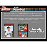 2020 Topps Heritage Baseball Hobby 12-Box Case (Presell)