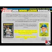 2020 Topps Heritage Minor League Baseball Hobby 12-Box Case (Presell)