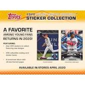 2020 Topps Baseball MLB Sticker Collection Album (Presell)