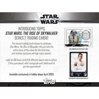 Star Wars The Rise of Skywalker Series 2 Hobby Box (Topps 2020) (Presell)