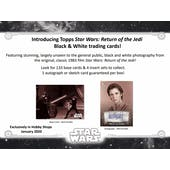 Star Wars: Return of the Jedi Black & White Hobby 12-Box Case (Topps 2020) (Presell)