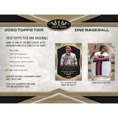 2020 Topps Tier One Baseball Hobby 12-Box Case (Presell)