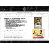 2020 Topps Transcendent Collection Hall of Fame Edition Baseball Hobby Case