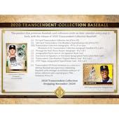 2020 Topps Transcendent Collection Baseball Hobby Case (Presell)