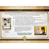 2020 Topps Transcendent Collection Baseball Hobby Case (NO VIP PASS) (Presell)