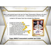 2020 Topps WWE Transcendent Collection Wrestling Hobby Case (Presell)