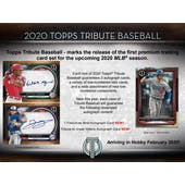 2020 Topps Tribute Baseball Hobby Box (Presell)