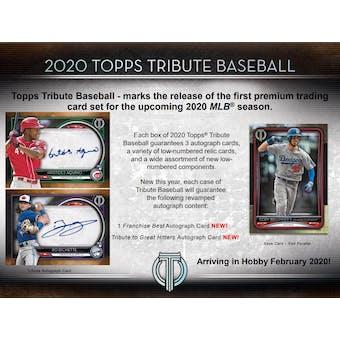 2020 Topps Tribute Baseball Hobby Box (Presell)