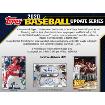 2020 Topps Update Series Baseball Hobby Box (Presell)