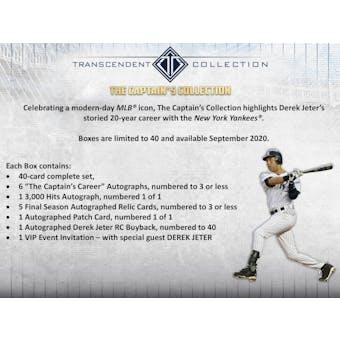 2020 Topps Transcendent Captain's Collection Hobby Case
