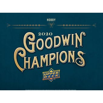 2020 Upper Deck Goodwin Champions Hobby 16-Box Case (Presell)