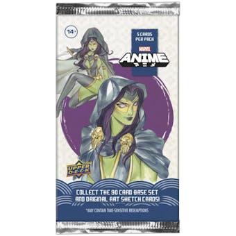 Marvel Anime Trading Cards Hobby Pack (Upper Deck 2020)