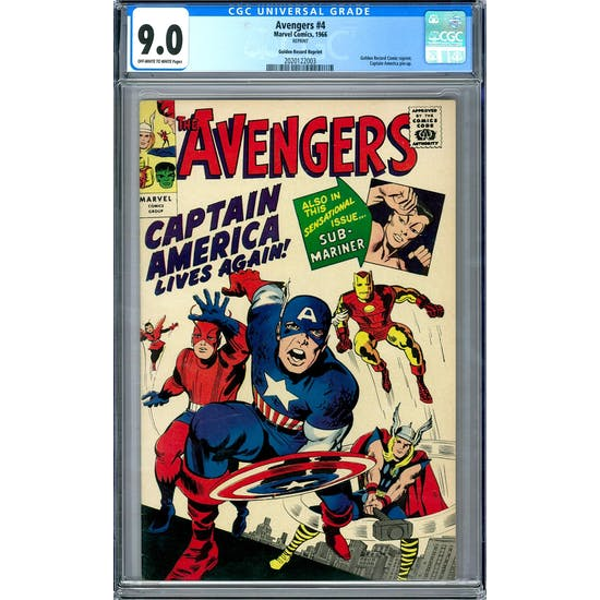 Avengers #4 Gold Record Reprint CGC 9.0 (OW-W) *2020122003*
