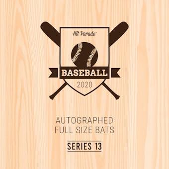 2020 Hit Parade Autographed Baseball Bat 1-Box Series 13- DACW Live 6 Spot Random Division Break #1