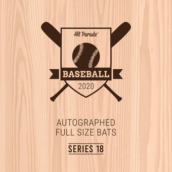 2020 Hit Parade Autographed Baseball Bat Hobby Box - Series 18 - Acuna Jr., Yelich & Willie Mays!!!