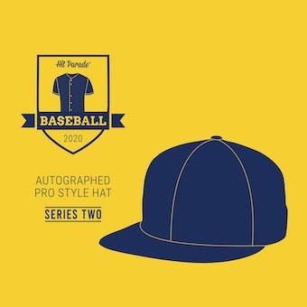 2020 Hit Parade Autographed Baseball Hat Hobby Box - Series 2 - H. Aaron, M. Rivera, & Bellinger!