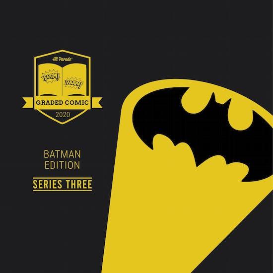 2020 Hit Parade The Batman Graded Comic Edition Hobby Box - Series 3 - GOLDEN AGE BATMAN!