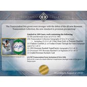 2020 Bowman Transcendent Collection Baseball Hobby Case