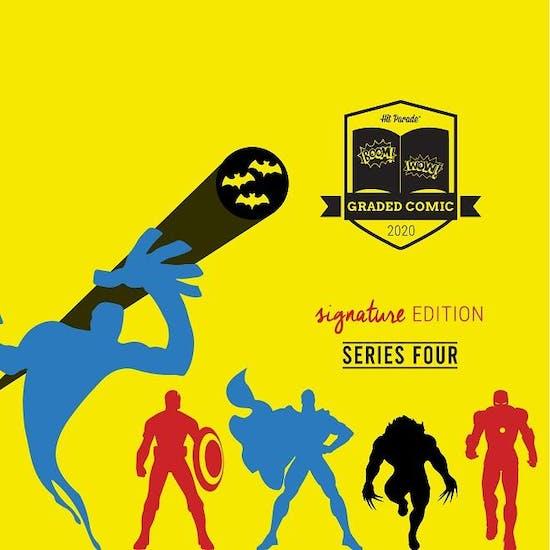 2020 Hit Parade Signature Series Graded Comic Edition Hobby Box -Series 4 - 1ST VENOM BLACK WIDOW SIGNED STAN