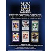 2020 Leaf Valiant Baseball Hobby Box (Presell)