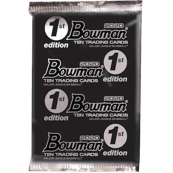 2020 Bowman 1st Edition Baseball 24-Pack 1-Box- DACW Live 6 Spot Random Division Break #1
