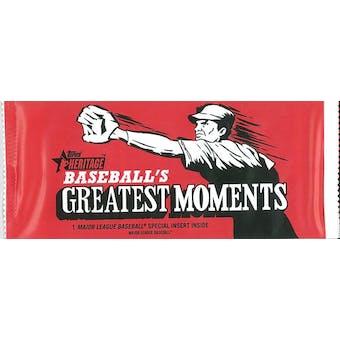2020 Topps Heritage Baseball Greatest Moments Topper Pack