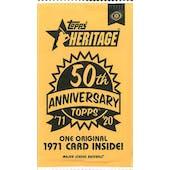 2020 Topps Heritage Baseball 50th Anniversary Topper Pack