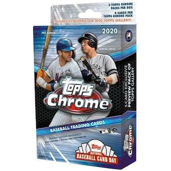 2020 Topps Chrome Baseball Hanger Box (Lot of 6)