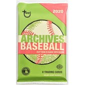 2020 Topps Archives Baseball Hobby Pack